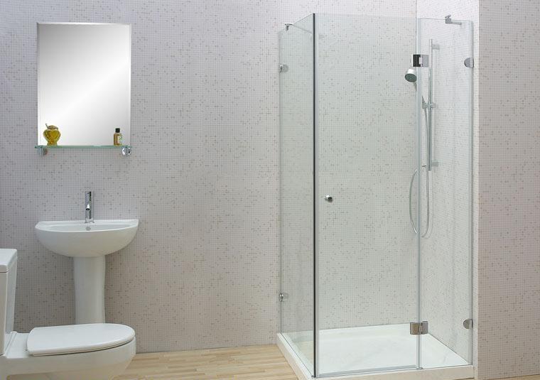 Phòng tắm ốp kính cường lực và cửa kính cường lực