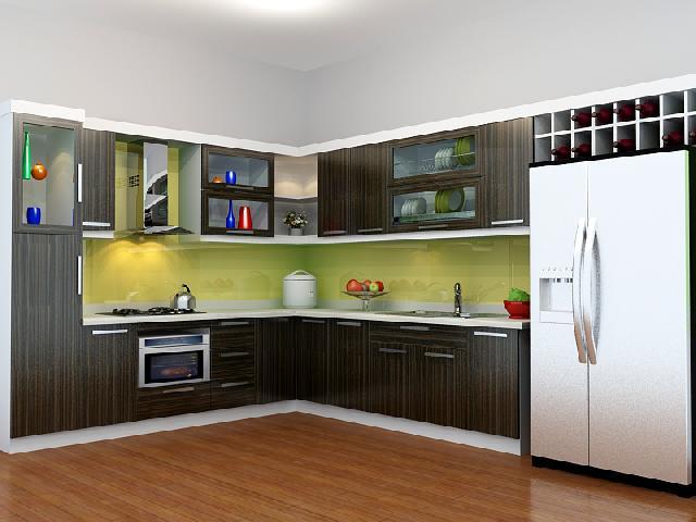 Cách lựa chọn kính màu ốp bếp cao cấp