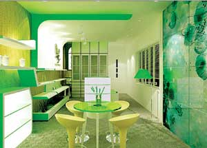 Cách vệ sinh kính màu ốp bếp không gian bếp luôn như mới