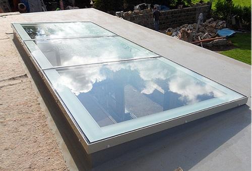 Mái kính giếng trời mang tính thẩm mỹ và an toàn