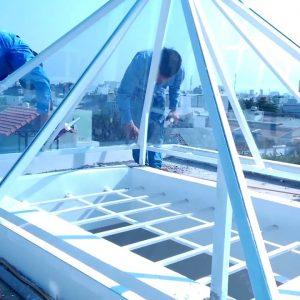 Báo giá mái kính lấy sáng tại các loại tại hn tphcm