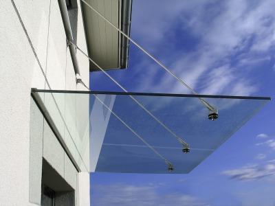 Mái kính treo bền đẹp giá rẻ- kính Là Ánh