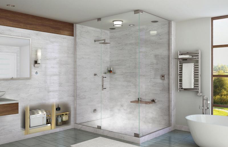Nhà tắm kính cường lực, phòng tắm kính đẹp nhiều kích cỡ