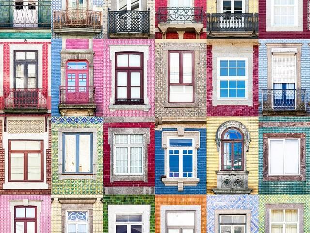 Mẫu cửa sổ nhiều màu sắc