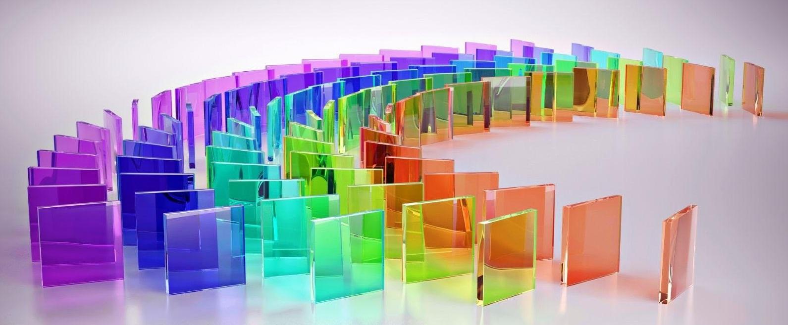một số màu của kính cường lực dán 2 lớp