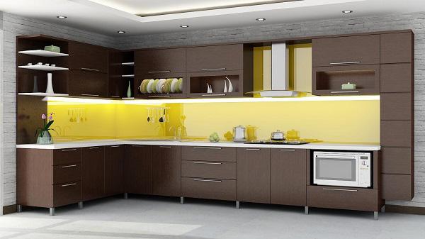 Kính cường lực sơn màu vàng chanh