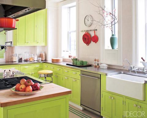 kính màu ốp bếp màu xanh